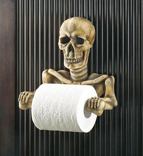 Skull Toilet Roll Holder