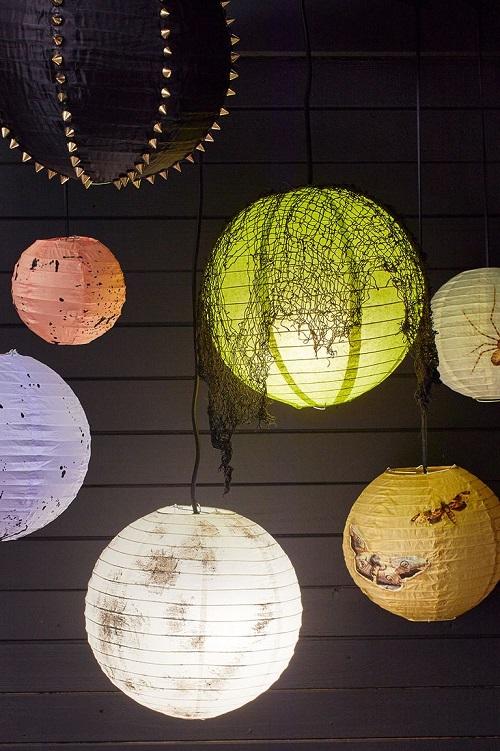Spooky Hanging Paper Lanterns