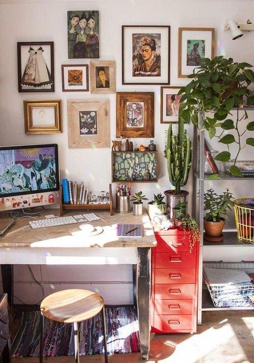 Boho Minimalist Office Inspiration 10