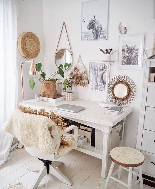 Boho Minimalist Office Inspiration 8