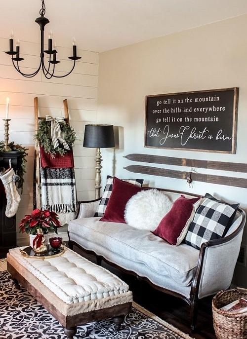 Pretty Christmas Living Room Ideas5