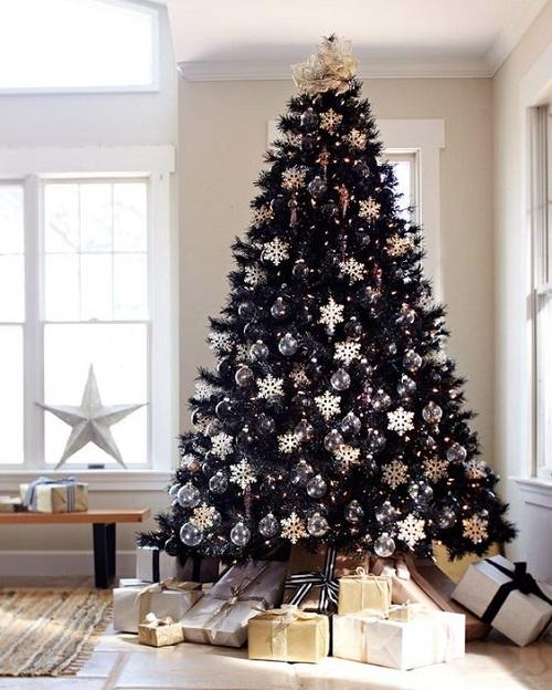 Chic Black Christmas Tree
