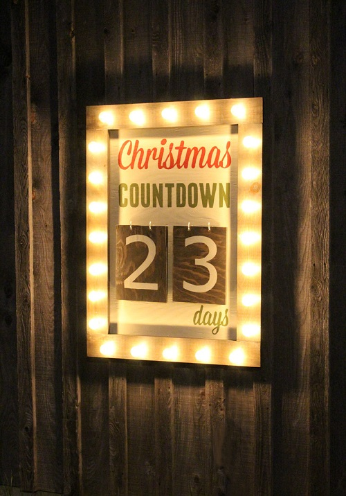 Christmas Countdown Marquee Sign