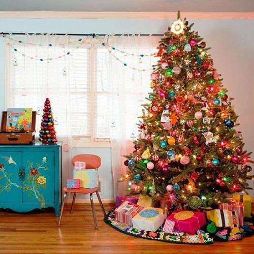 Pretty Christmas Living Room Ideas7