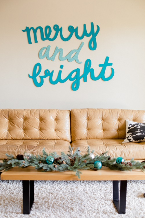 Merry And Bright Holiday Wall Art