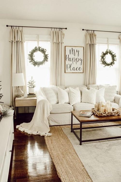 Pretty Christmas Living Room Ideas6