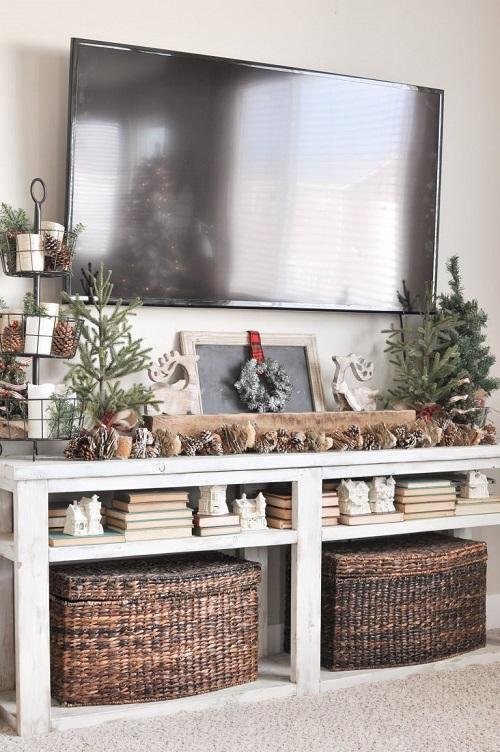 Neutral Christmas Living Room
