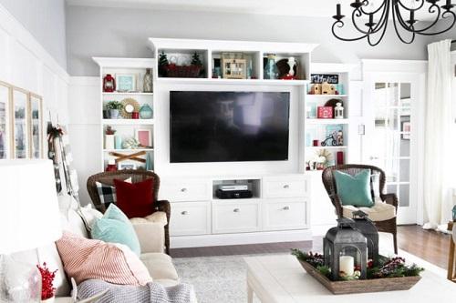 Pretty Christmas Living Room Ideas8