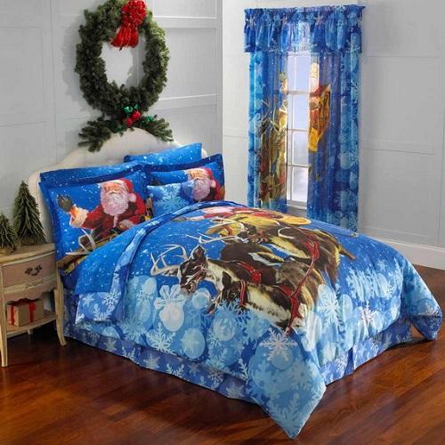 Santa Bedding & Curtains