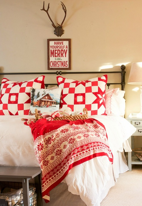How to Decorate Bedroom for Christmas4