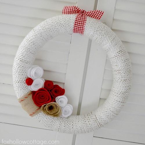 $5 Valentine's Day Wreath