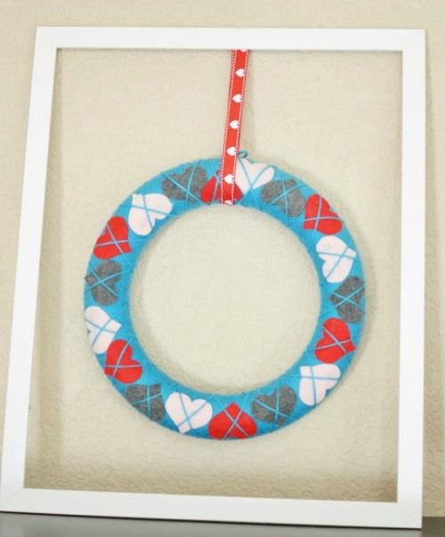 Argyle Heart Wreath