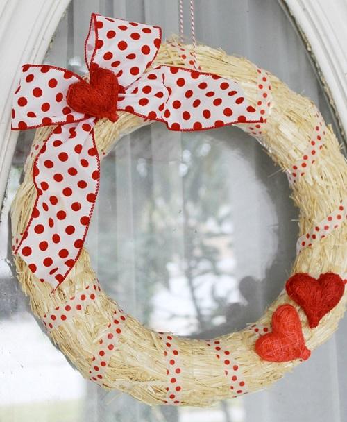 DIY Easy Valentine Wreath