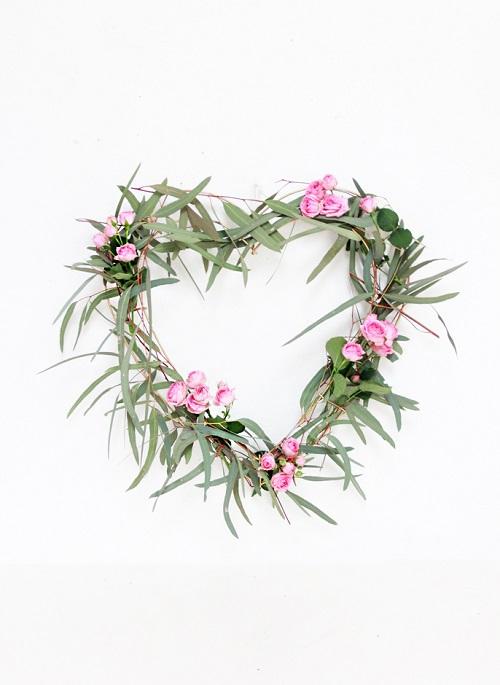 DIY Eucalyptus Heart Wreath