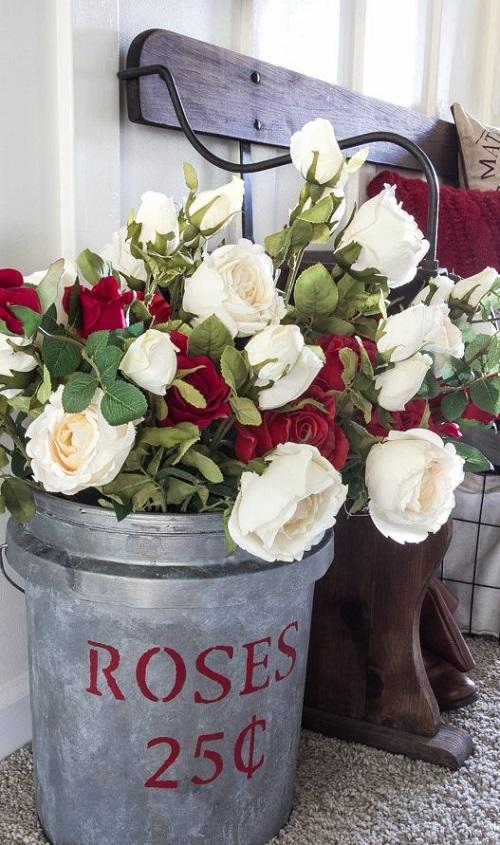 DIY Flower Market Bucket
