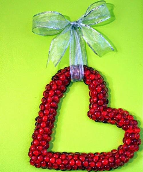 DIY Glass Beads Wreath