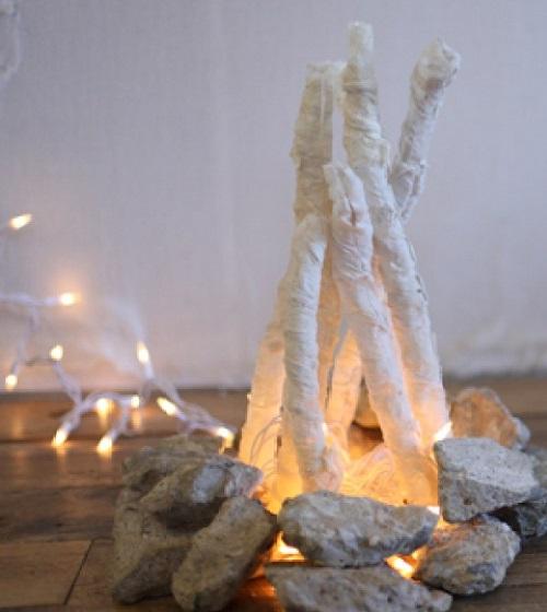 DIY River Rocks Flameless Fire Pit