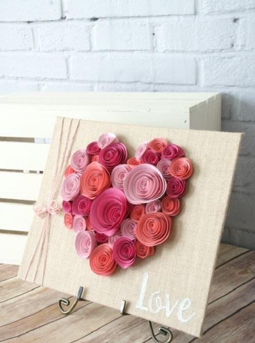 Easy Spiral Paper Flower Heart