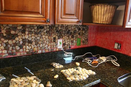 Garden Stone Kitchen Backsplash
