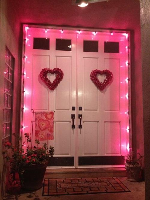 Glowing Valentine Porch Decor