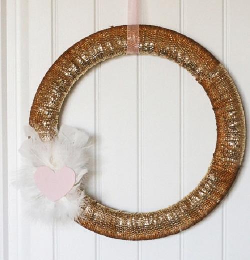 Gold Sequin Valentine Wreath