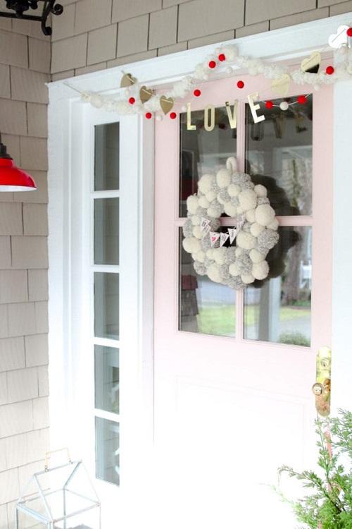 Minimalistic Valentine Front Porch Decor