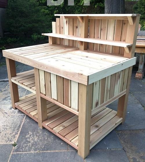 Outdoor Bar Potting Bench
