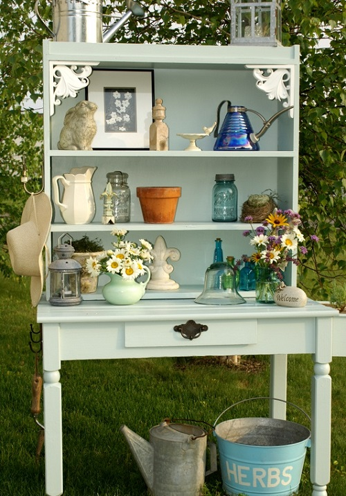 Potting Bench From Rummage Sale Junk