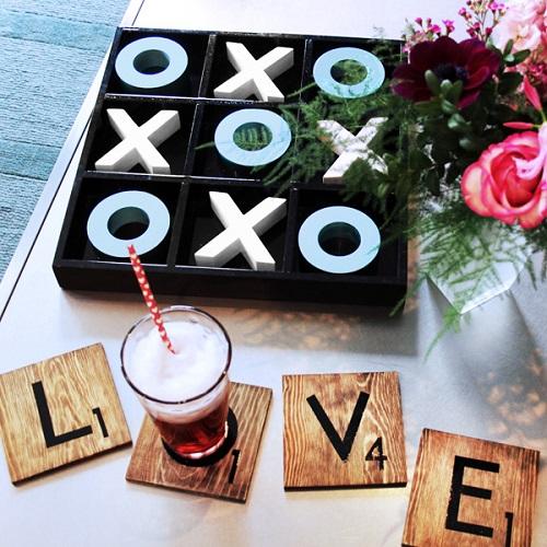 Scrabble Tile Inspired DIY Coasters