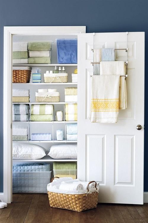 Affix a Towel Rack to the Linen Closet