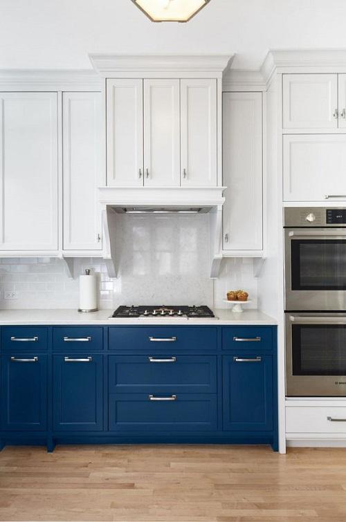 Blue Bottom Cabinets