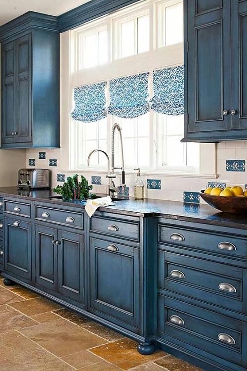 Blue Chalkboard Cabinets Idea