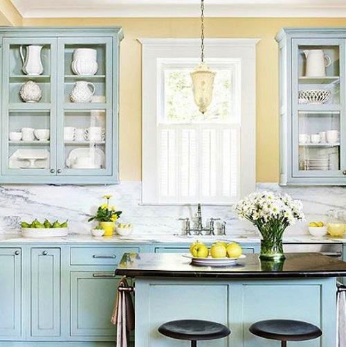 Blue Kitchen Cabinet Ideas13