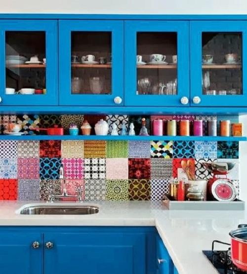 Blue Kitchen Cabinet Ideas10