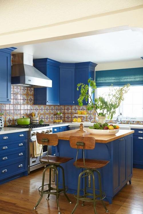 Blue Kitchen Cabinet Ideas8
