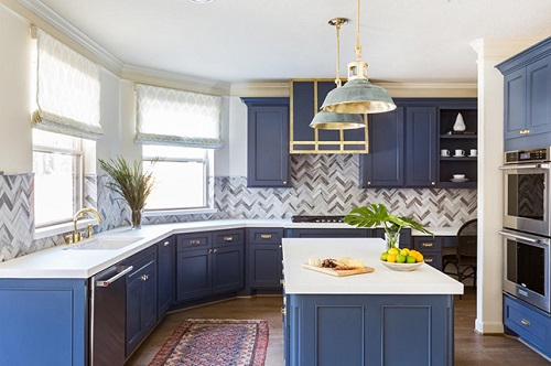 Cobalt Blue Cabinetry
