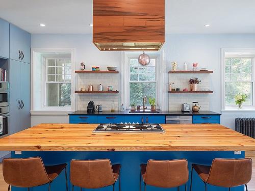 Contemporary Blue Cabinets