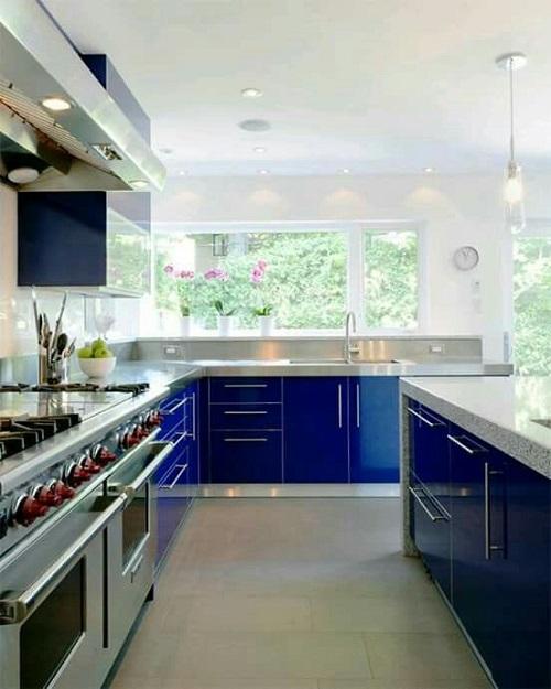 Blue Kitchen Cabinet Ideas12