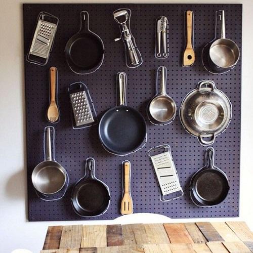 DIY Kitchen Pegboard
