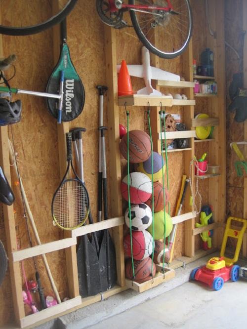 Easy Storage for Sports Stuff