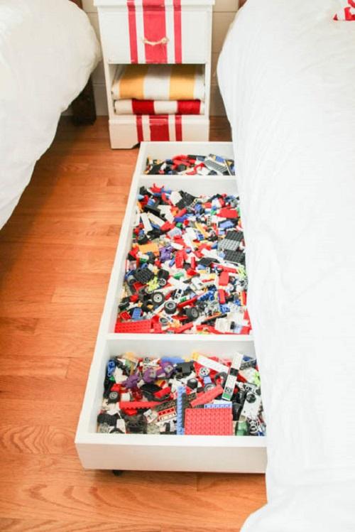 Make Under-Bed Storage for LEGOs