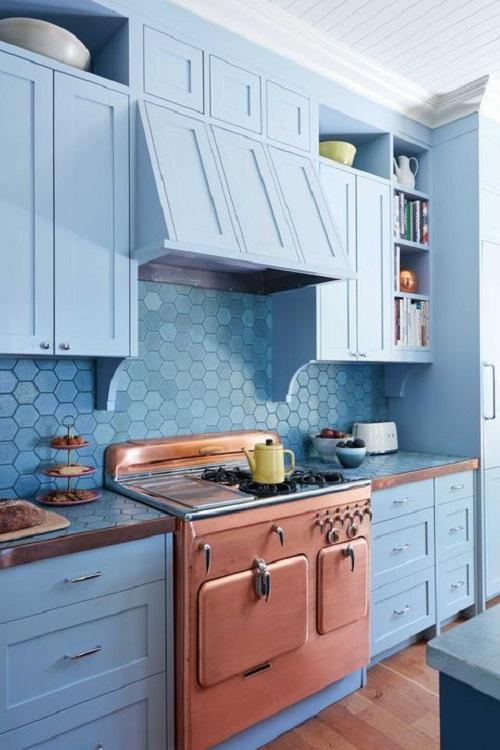 Blue Kitchen Cabinet Ideas14
