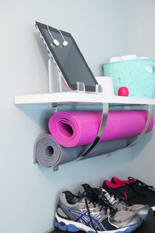 Pop Your Yoga Mat Below a Shelf