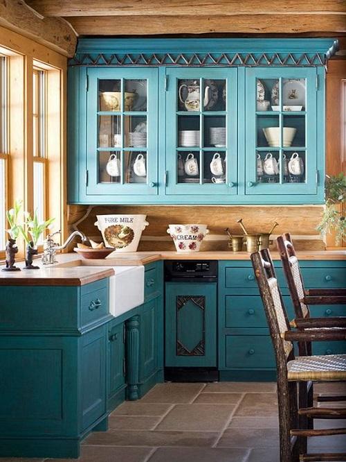 Blue Kitchen Cabinet Ideas11