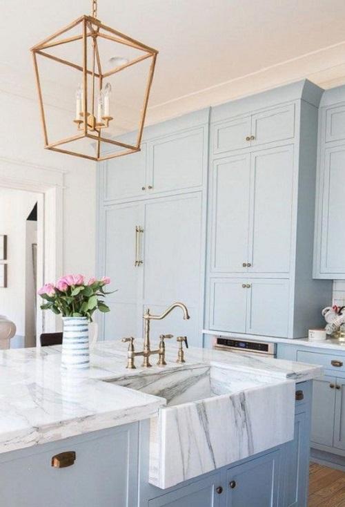 Blue Kitchen Cabinet Ideas9