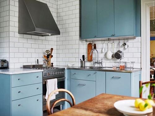 Blue Kitchen Cabinet Ideas7