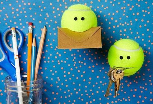Tennis Balls as Key Holder