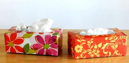 Tissué Box Plastic Bag Holder