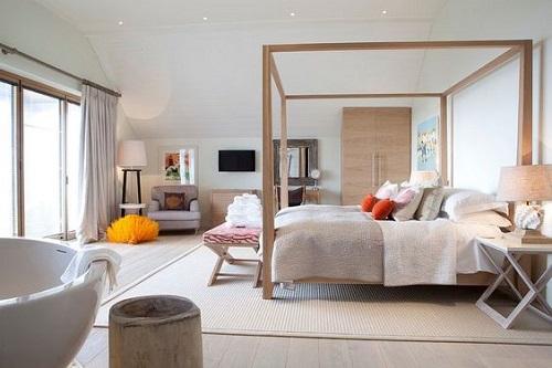 Canopy Bed in a Scandinavian Bedroom