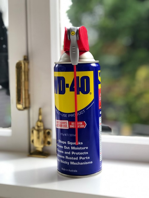 Use WD-40 for Gum